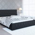 Łóżko dwuosobowe do małej sypialni